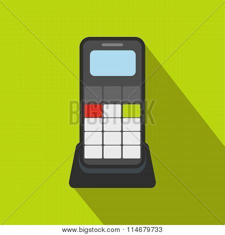 Wireless phone flat icon