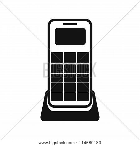Wireless phone black simple icon