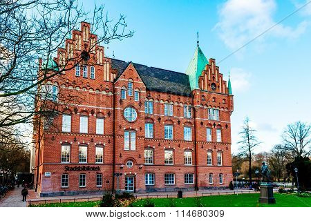 Malmo, Sweden - January 4, 2015: The City Library In Malmo In Sweden. Malmo City Library First Opene