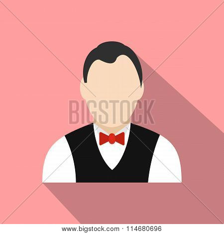 Croupier flat icon