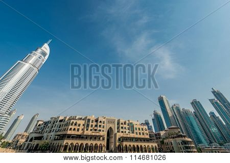 Dubai - JANUARY 10, 2015: The Address Hotel on January 10 in UAE, Dubai. Address Hotel is popular 5-star hotel.