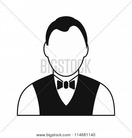 Croupier black simple icon