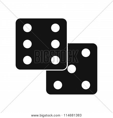 Dice black simple icon