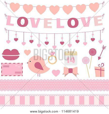Valentine's Day Decoration Vector Set