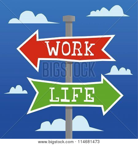 Work Life Direction Arrows