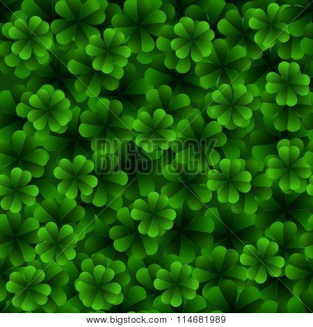 Four Leaf Clover Seamless Pattern.