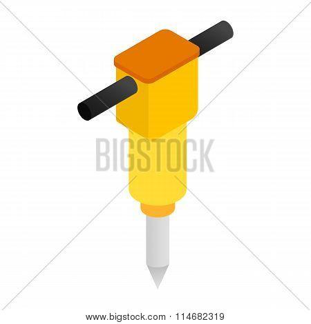 Jackhammer isometric 3d icon
