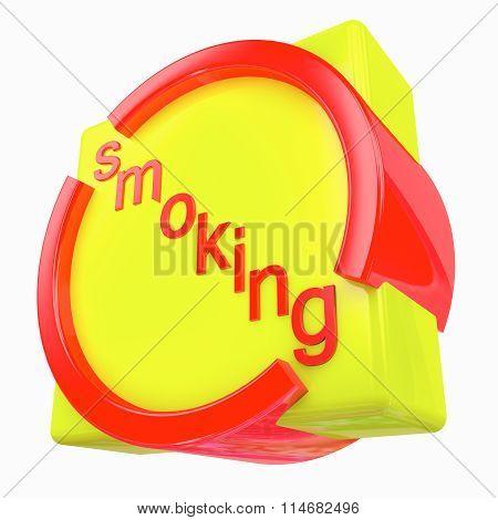 Round-square Sign No Smoking
