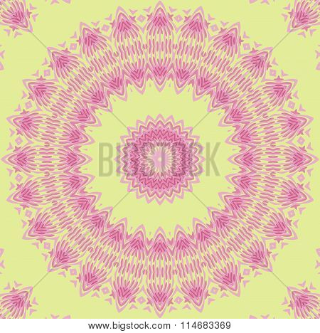 Seamless ornament pink violet green