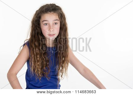 Attractive Happy Smiling Preteen 10 Year Old Female Girl