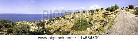 Bumpy Road Lake Varano In Puglia Countryside -  Gargano