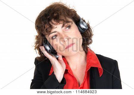 Friendly Secretary/telephone Operator, Looking Up At The Corner