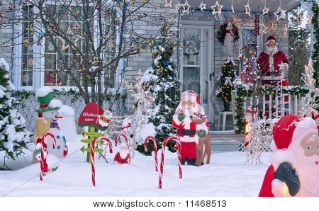 Porch Santa