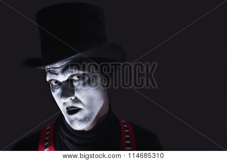 Portrait Of Dark Mime
