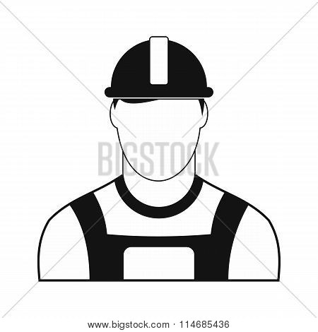 Oilman black simple icon