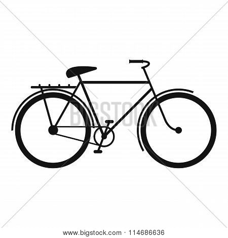 Bicycle black simple icon