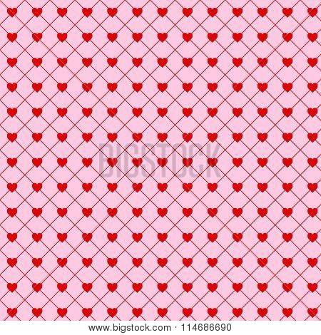 Valentine Simple Hearts Seamless Background