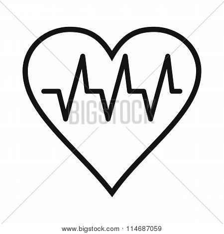 Heartbeat black simple icon