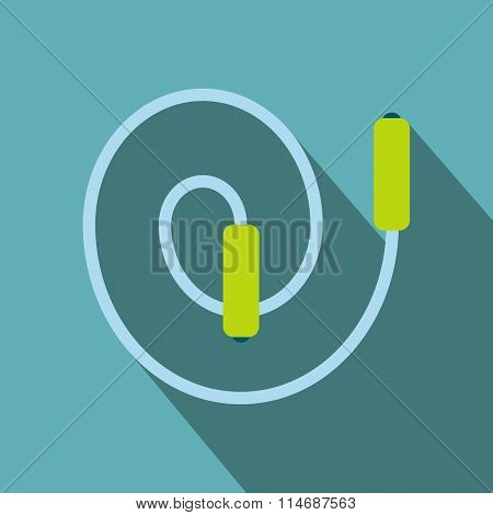Skipping rope flat icon