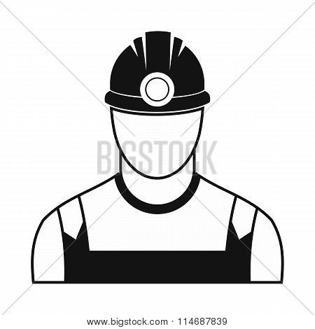 Coal miner black simple icon