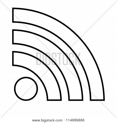 RSS sign line icon