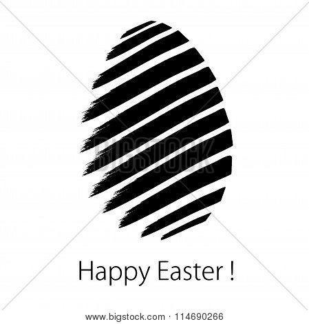 Happy Easter. Greeting Card In Vector Format