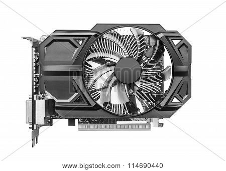 Graphic card isolated.