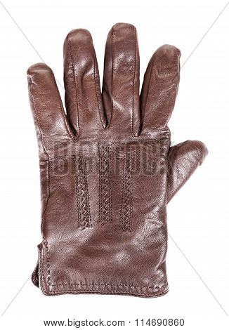 Brown Leather Glove