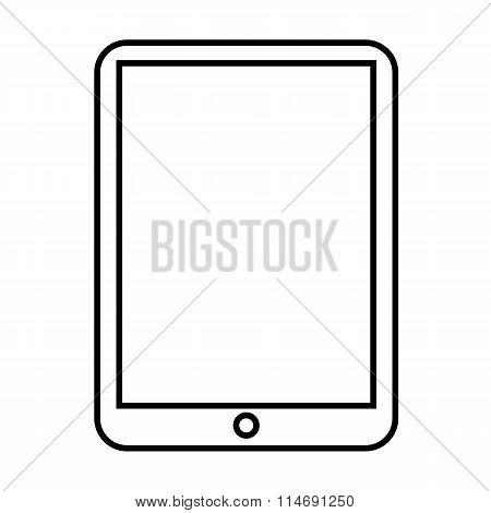 Computer tablet line icon