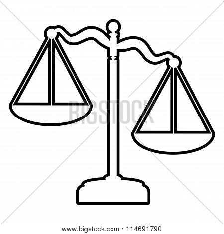 Scales of Justice line icon