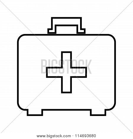 First aid box line icon