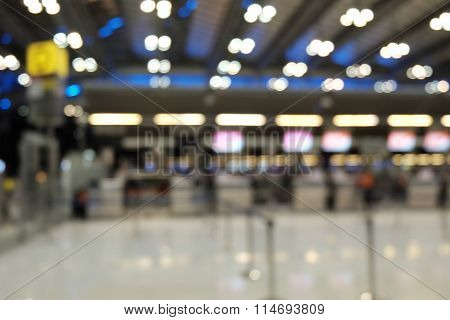 blur photo of check in counter with Bokeh