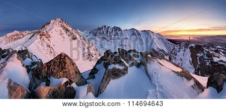 Slovakia Mountain Lanscape Panorami In Tatras.