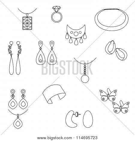 Jewelry  Silhouette  Black