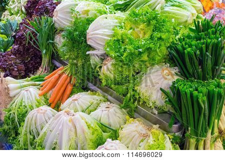 Cabbage and salad for sale