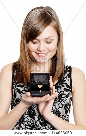Valentine golden gift