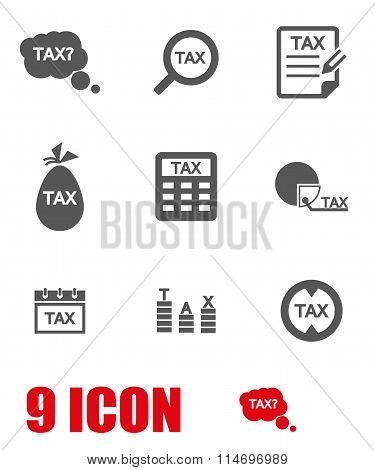 Vector Grey Tax Icon Set
