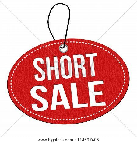 Short Sale Label Or Price Tag