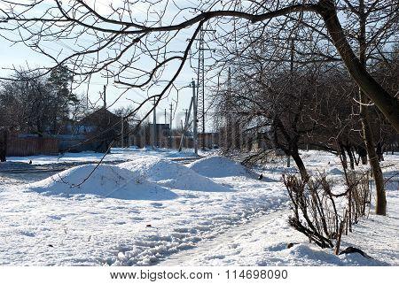 Winter Snow Drifts Of