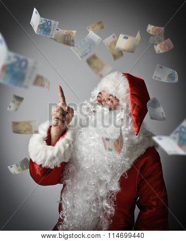 Santa Claus And Euro.