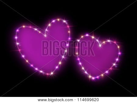 Double Pink Hearts