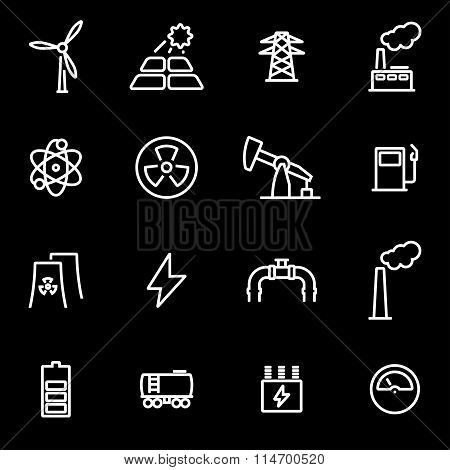 Vector Line Energetics Icon Set