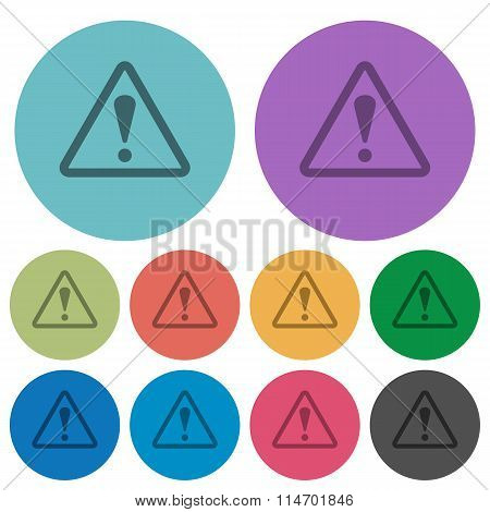 Color Warning Flat Icons