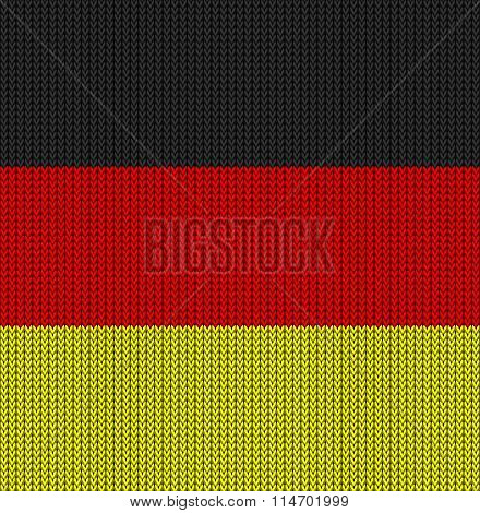 Knitted Flag Of Germany