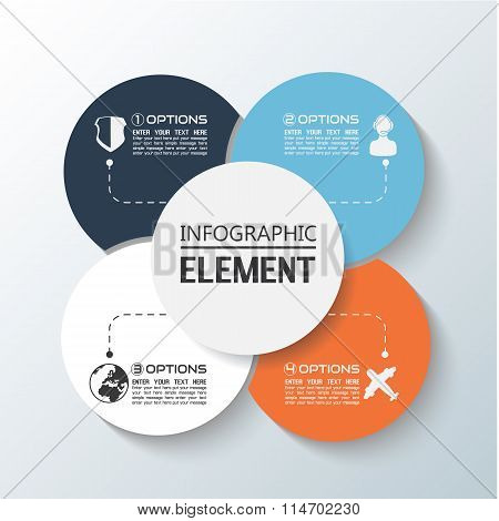 Element For Infographic Chart Template Geometric Figure Rims Stacked