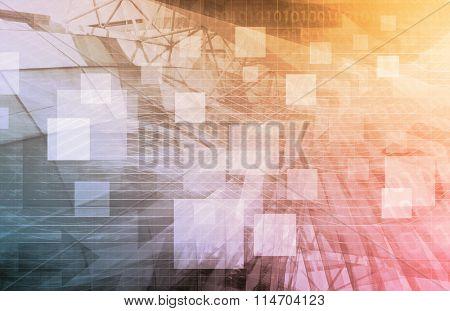 Finance Background as a Creative Concept Art