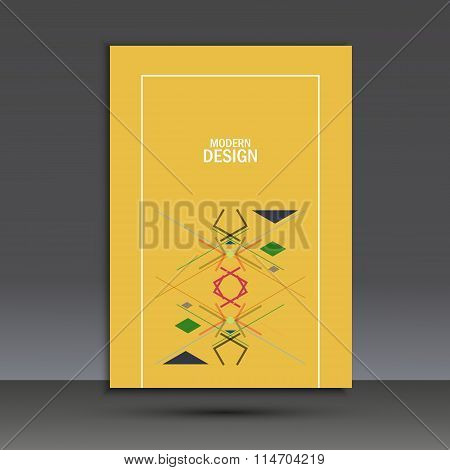 Templates geometric abstract design in A4. Modern vector background