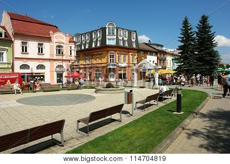 Summer In Mountain Town Of Slovakia.