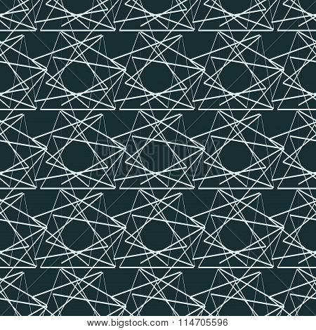 Seamless Vector Illustration With Triangles On Aqua Background.
