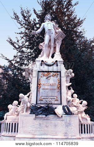 Mozzart Statue In Vienna City, Austria